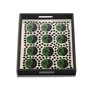 Bandeja Rostinhos Pattern Verde e Preto