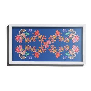 Bandeja Tropicana Floral Azul e Rosa