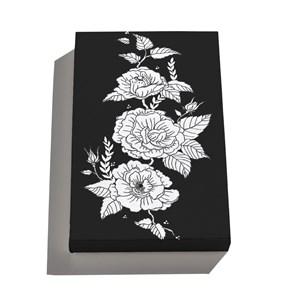 Caixa Tá na Mesa Flores Pretas 01