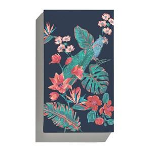 Canvas Flor de Arara Azul e Azul Marinho