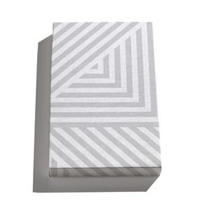 Canvas Geométrico Linhas Grossas Branco e Cinza