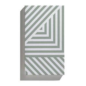 Canvas Geométrico Linhas Grossas Verde e Branco