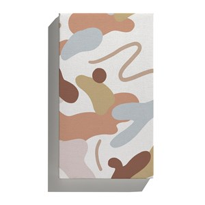 Canvas Manchas Grandes Bege e Mostarda
