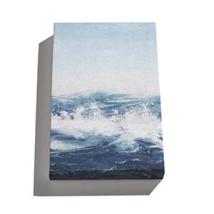 Canvas Mar Realista Azul e Azul Marinho