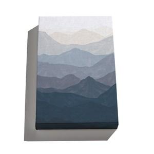 Canvas Montanhas Degradê Azul Marinho e Azul