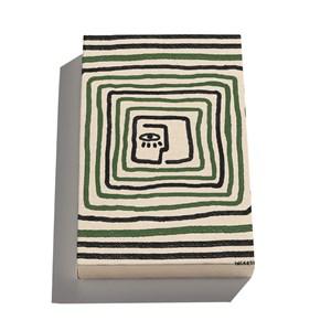Canvas Rostinhos II Verde e Preto