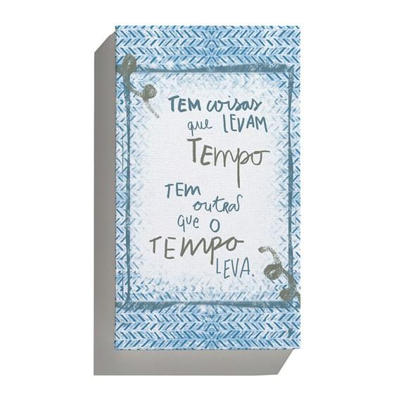 Canvas Rustic Frases Azul