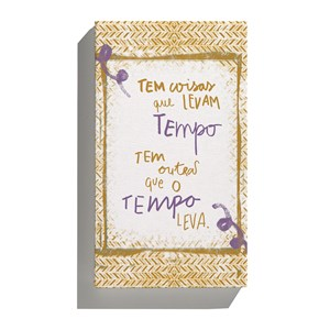 Canvas Rustic Frases Bege
