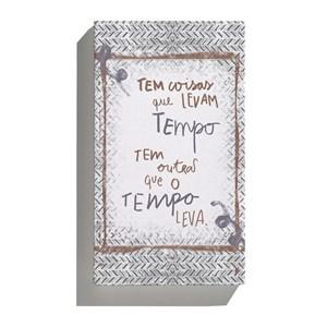 Canvas Rustic Frases Cinza