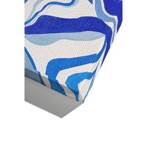Canvas Tela Azul Azul e Branco
