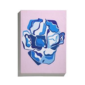 Canvas Tela Azul Azul e Rosa