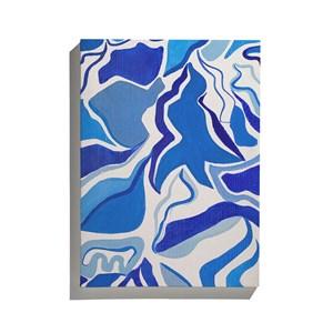 Canvas Tela Azul Branco e Azul