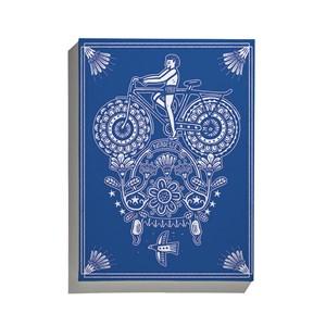 Canvas Vento Leste Azul e Branco
