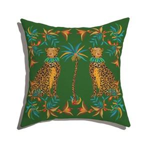 Capa de Almofada Amor Selvagem II Verde e Amarelo