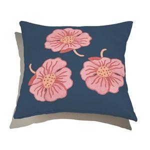 Capa de Almofada Bosque Encantado Azul Marinho e Rosa