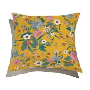 Capa de Almofada Clássico Moderno Floral Amarelo e Verde