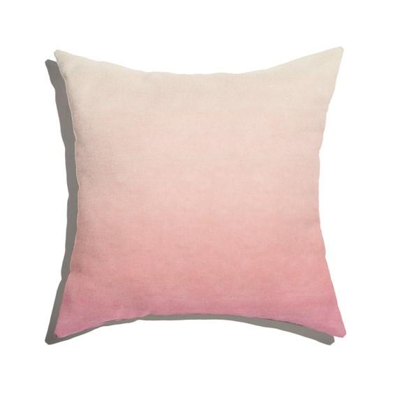Capa de Almofada Degradê Trinchado Rosa e Branco