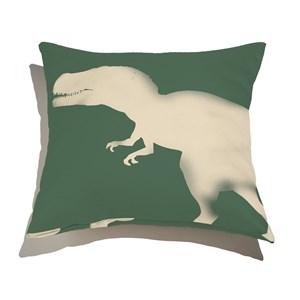 Capa de Almofada Dinos fósseis Verde e Bege