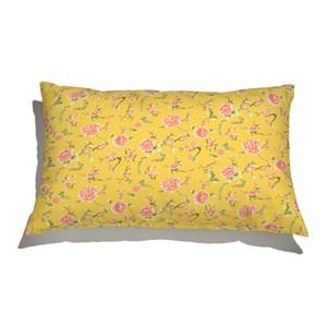 Capa de Almofada Floral Japonaisserie Amarelo e Vermelho