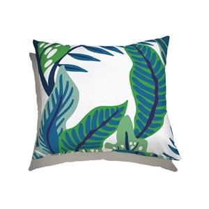 Capa de Almofada Floresta Colorida Verde e Azul
