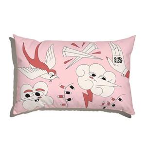 Capa de Almofada Funny Dreams Rosa e Branco