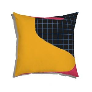 Capa de Almofada Moderninhos Vermelho e Amarelo