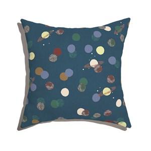 Capa de Almofada Planetas Azul Marinho e Marrom