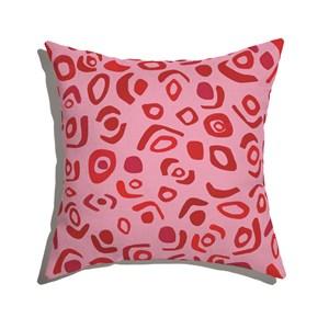 Capa de Almofada Tela Azul Rosa e Vermelho