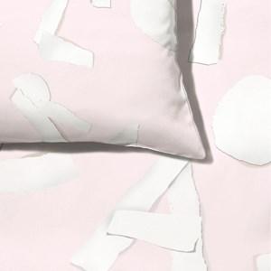 Capa de Edredom ABC Rosa e Branco
