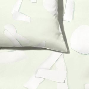 Capa de Edredom ABC Verde e Branco