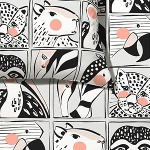 Capa de Edredom Bichinhos Bloom Branco e Marrom
