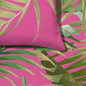 Capa de Edredom Costa Rica Rosa e Verde