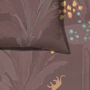 Capa de Edredom Folhagens Sonhos II Bege e Amarelo
