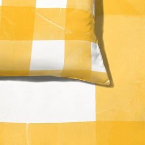 Capa de Edredom Piquenique Amarelo e Branco 01