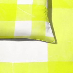 Capa de Edredom Piquenique Amarelo e Branco