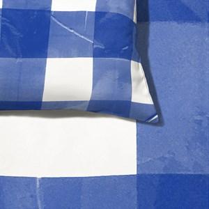 Capa de Edredom Piquenique Azul e Branco