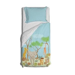 Capa de Edredom Selva de Mogli Azul e Verde