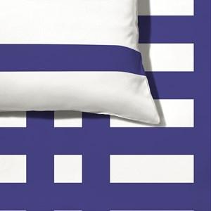 Capa de Edredom Xadrez Geométrico Azul Marinho