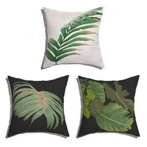Conjunto de Almofadas Costa Rica Verde e Branco