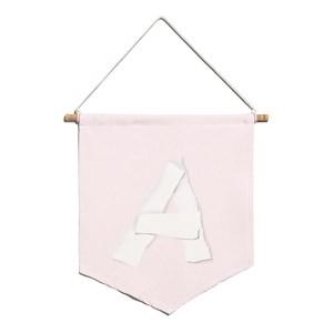 Flâmula ABC Rosa e Branco A