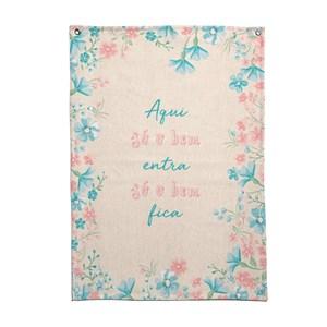 Flâmula Clássico Moderno Frases I Rosa e Azul