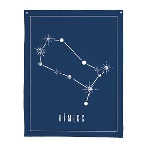 Flâmula Constelações Gêmeos Azul Marinho e