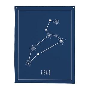 Flâmula Constelações Leão Azul Marinho e