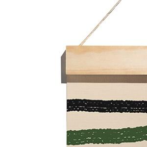 Flâmula Rostinhos II Verde e Preto