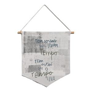 Flâmula Rustic Frases Cinza