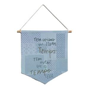 Flâmula Rustic Frases I Azul