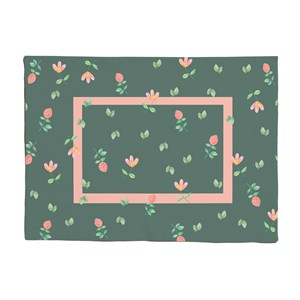 Jogo Americano Bosque Encantado Verde e Rosa