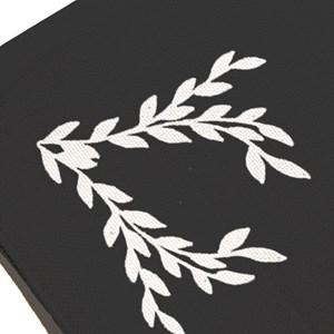Jogo Americano Flores Pretas Branco e Preto