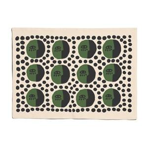 Jogo Americano Rostinhos Pattern Verde e Preto