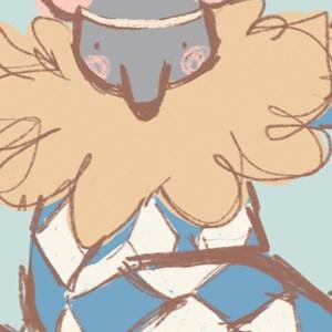 Painel de Parede Circo Bichinho I Bege e Azul